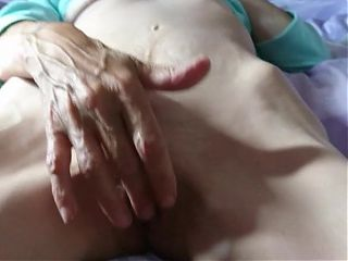 Gilf rubbing her clit in front of my face