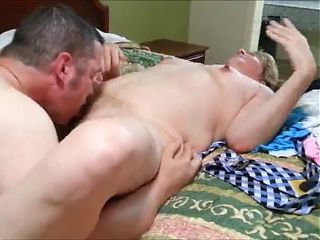 Big grandma fucked by bull while hubby recording