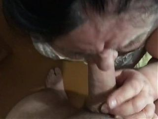 BBW Granny Drinking Piss And Sucking Cock