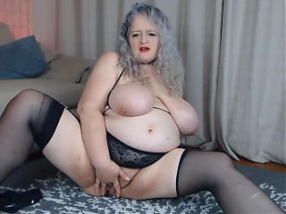 British BBW GILF Helenstaruk with huge tits and fat pussy