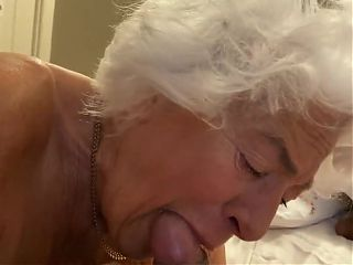 77 Yo Granny Sucking my Dick with Passion!