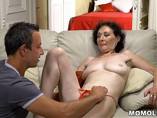 GILF is happy to receive a dick to play with