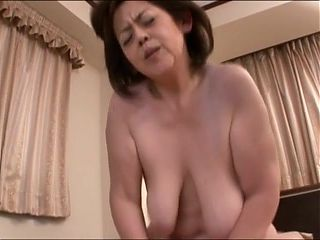 Japanese Granny with large udders censored, amateur